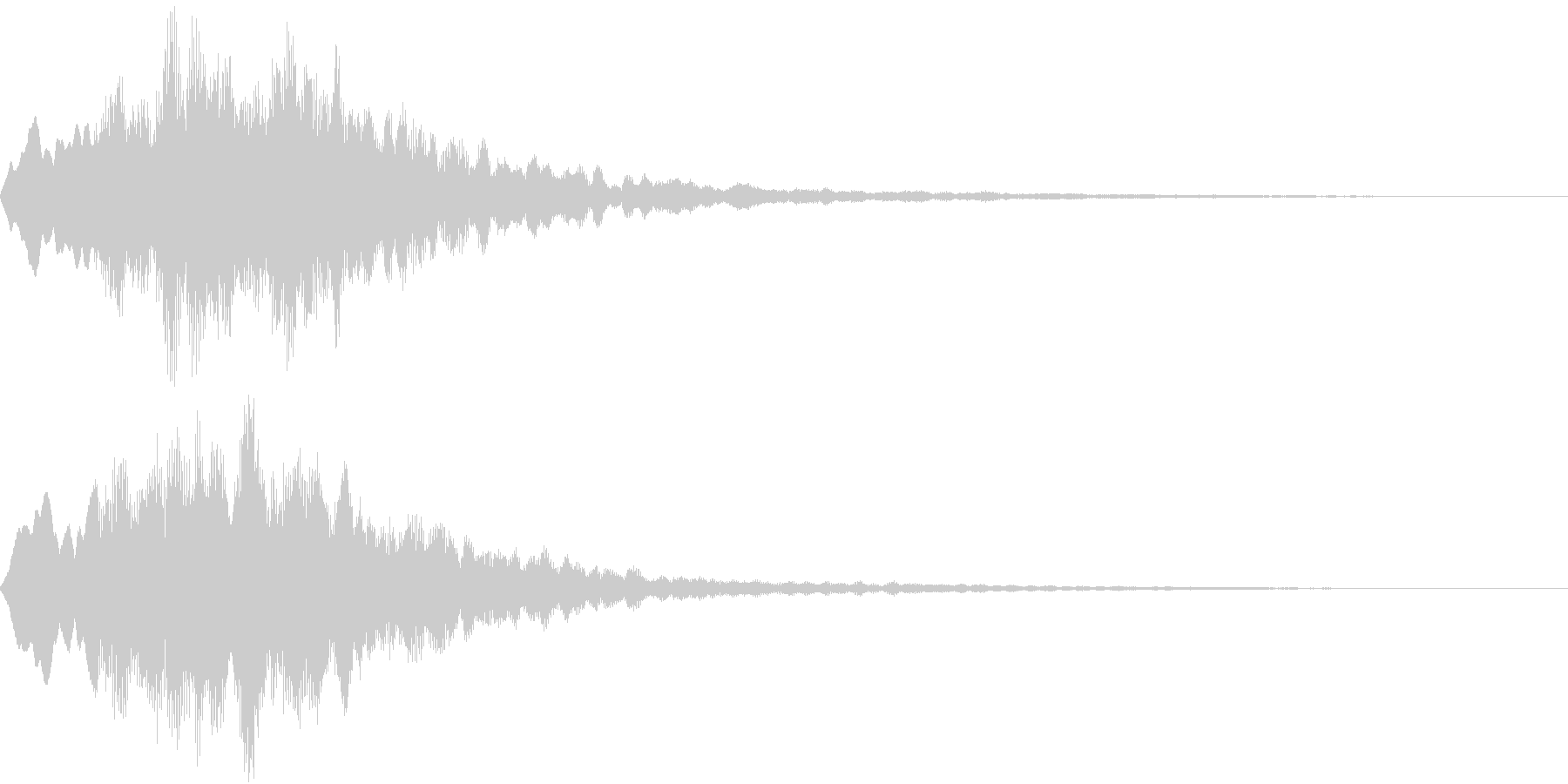 Level 短めのレベルアップSE 1の未再生の波形