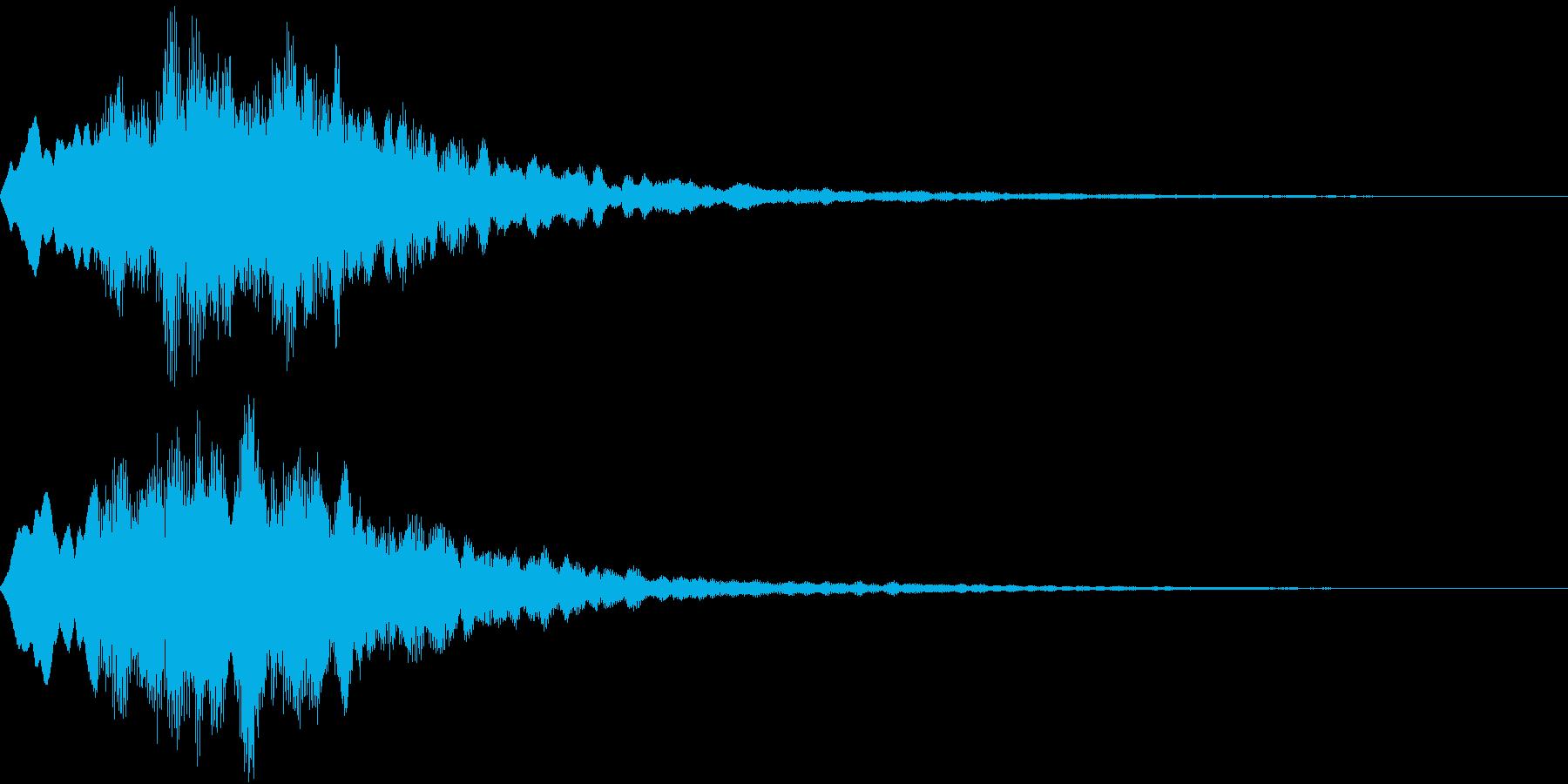 Level 短めのレベルアップSE 1の再生済みの波形