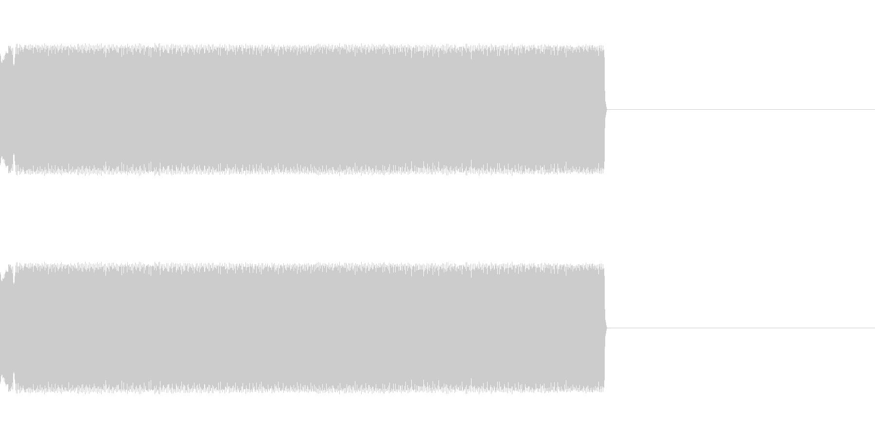 チープなレーザー音の未再生の波形