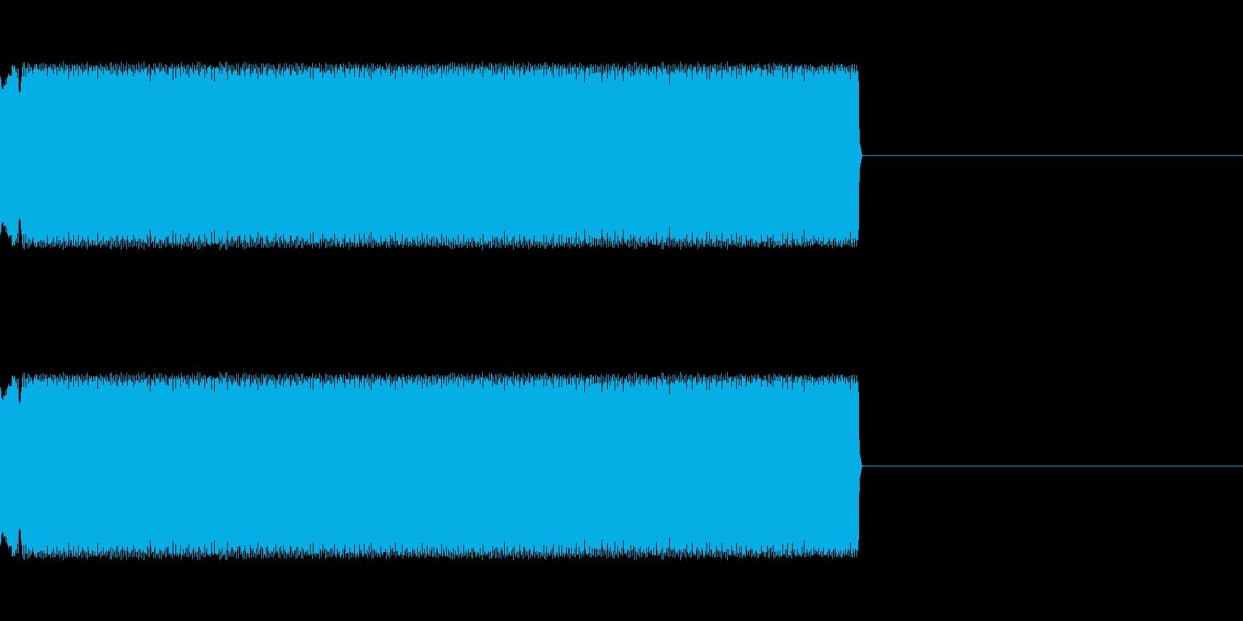 チープなレーザー音の再生済みの波形
