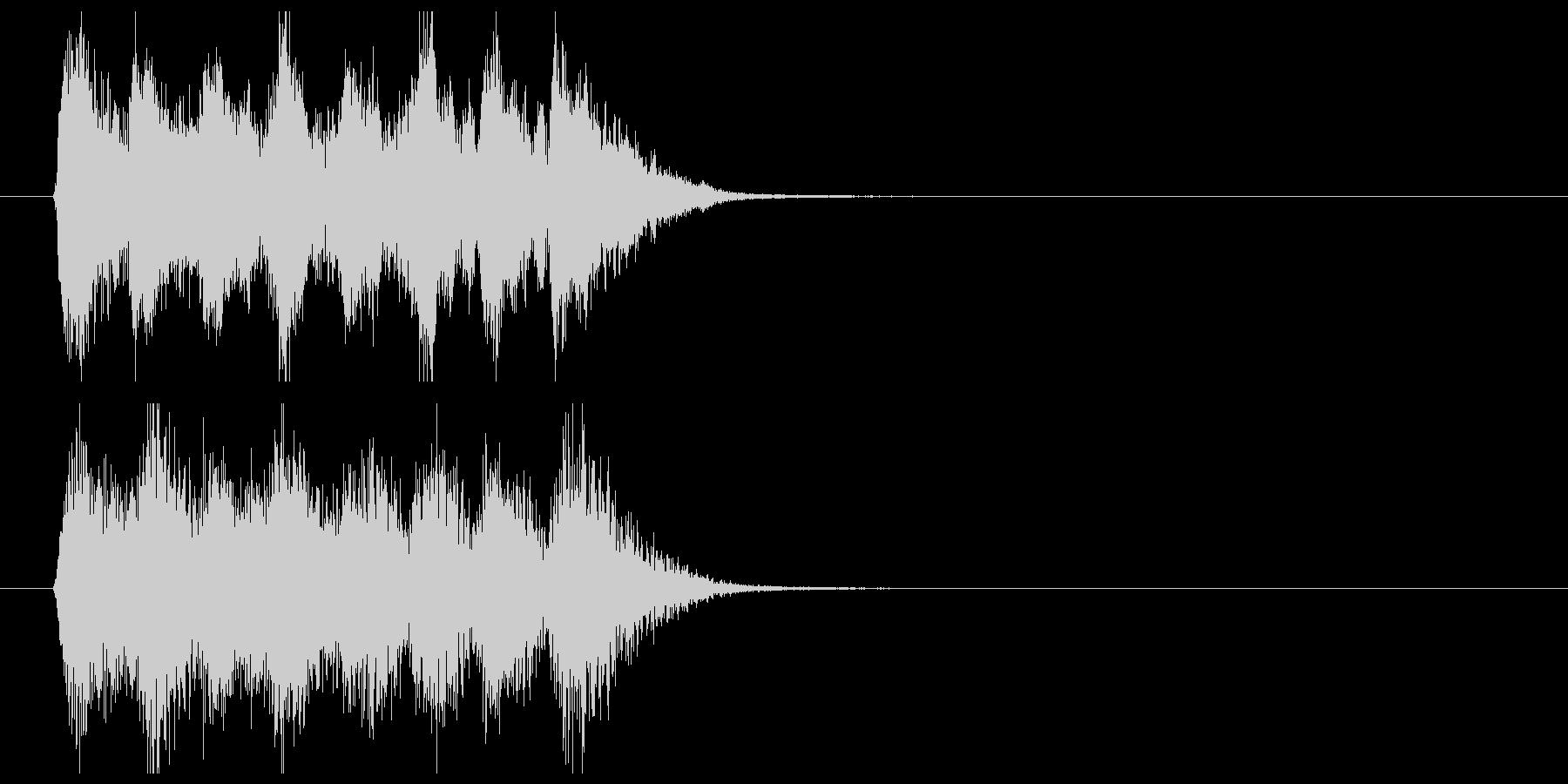 テンションコードのオーケストラジングルの未再生の波形