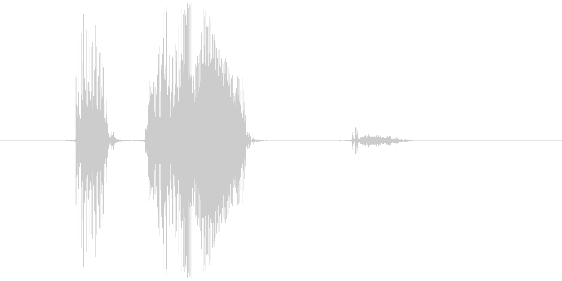 「アターック!」の未再生の波形