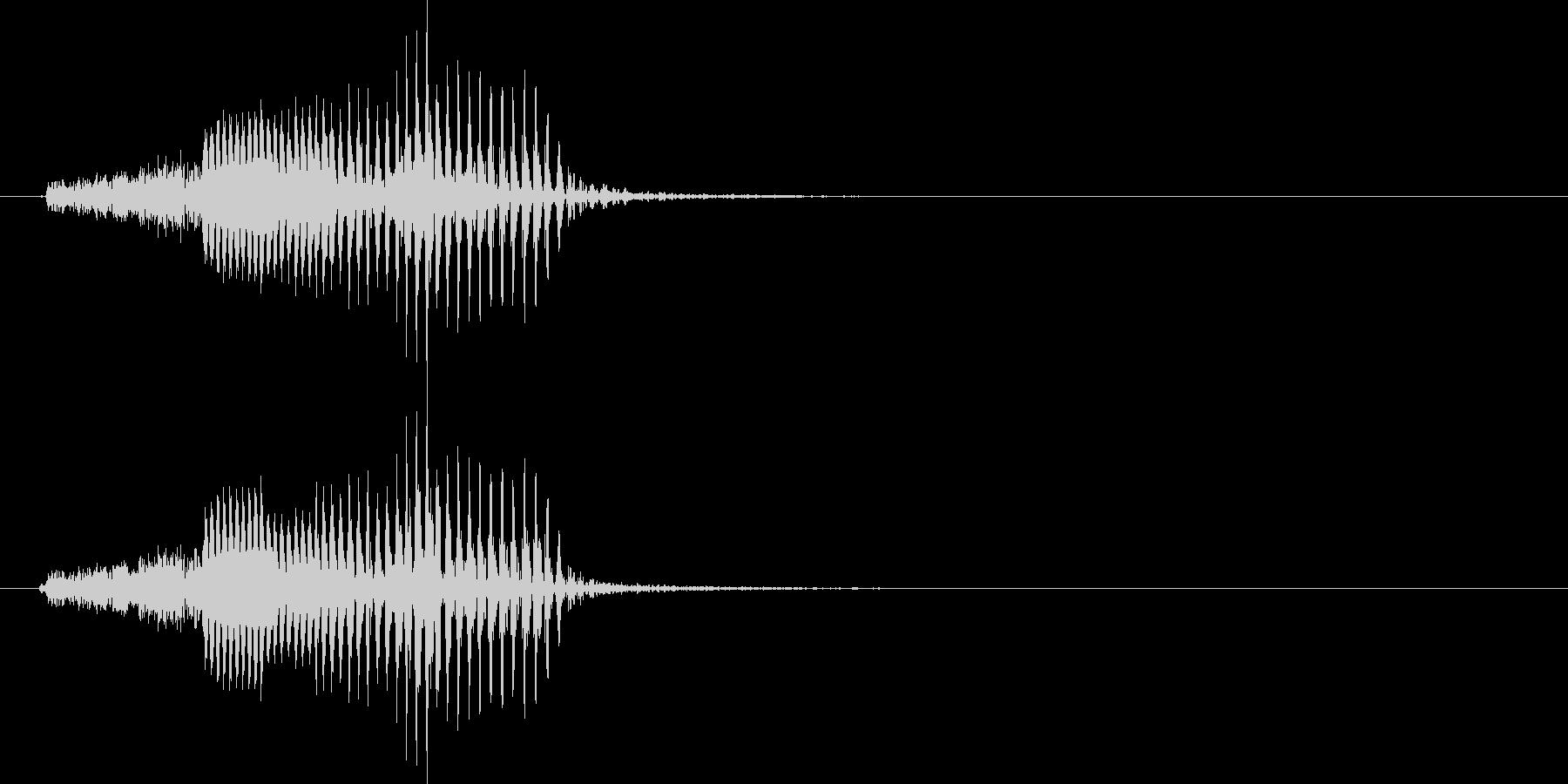 機械音声 シールドの未再生の波形