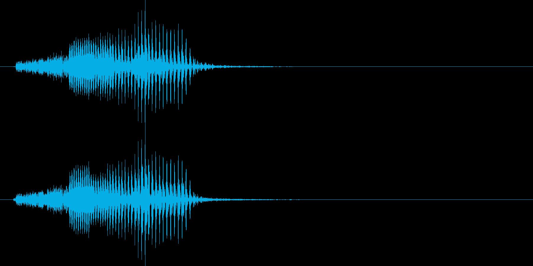 機械音声 シールドの再生済みの波形