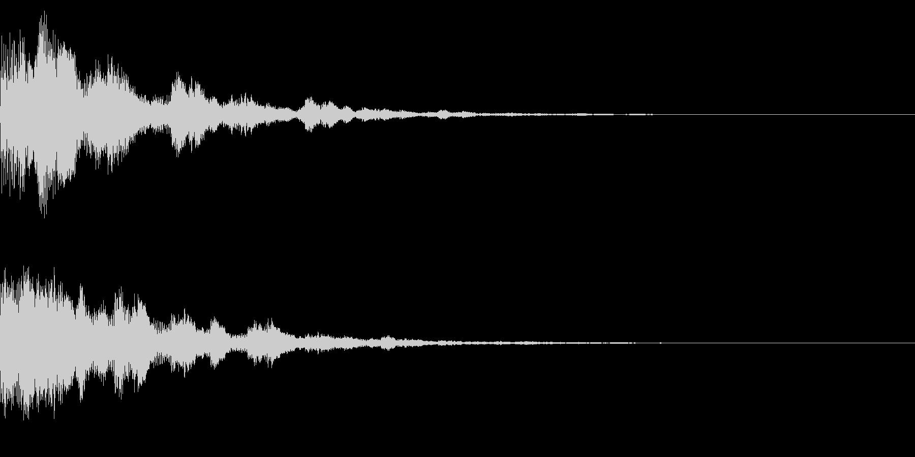 サウンドロゴ33(ベル系)の未再生の波形
