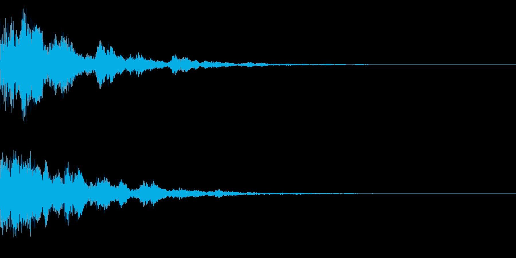 サウンドロゴ33(ベル系)の再生済みの波形