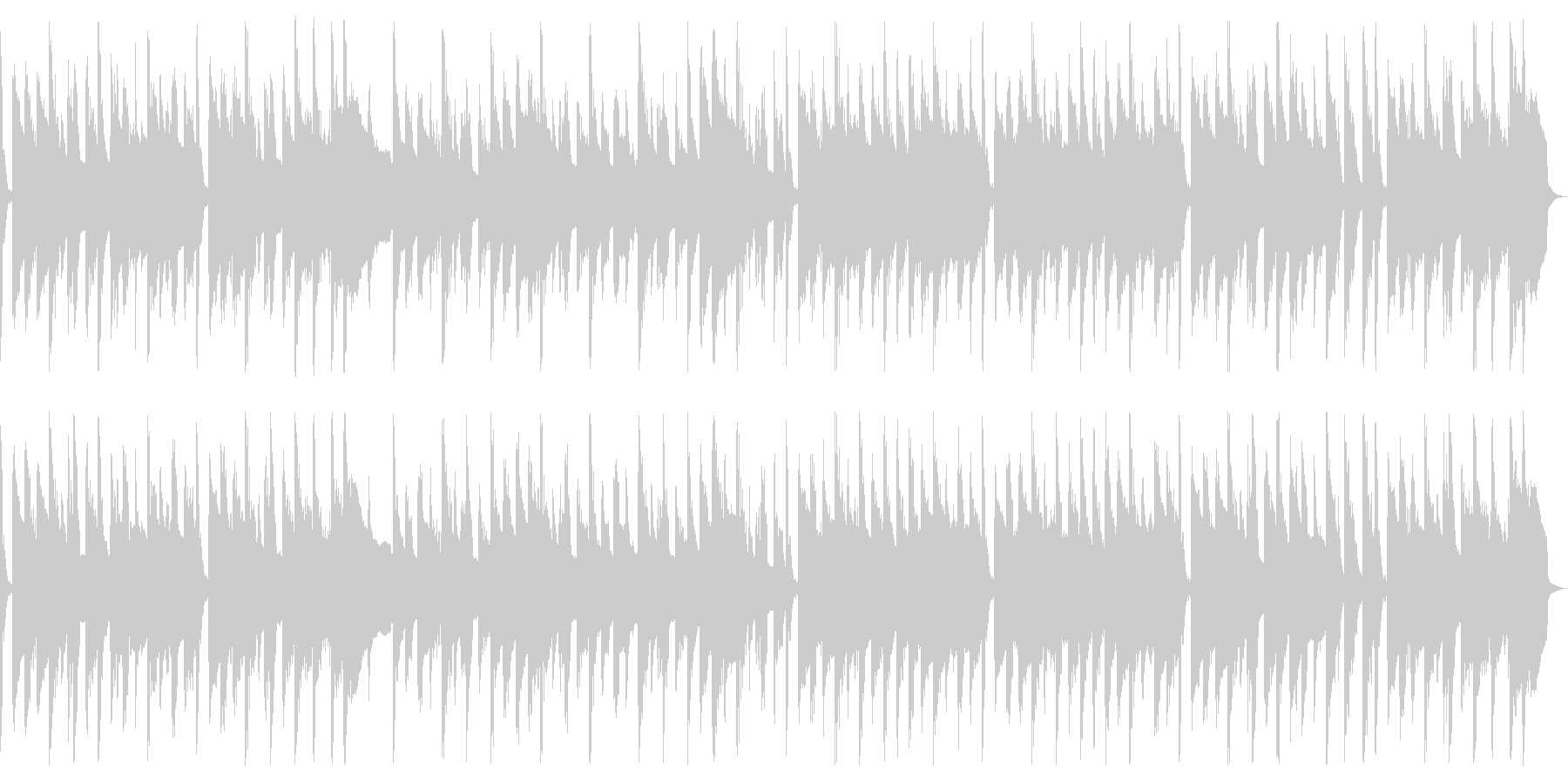 軽快で楽しいBGMの未再生の波形