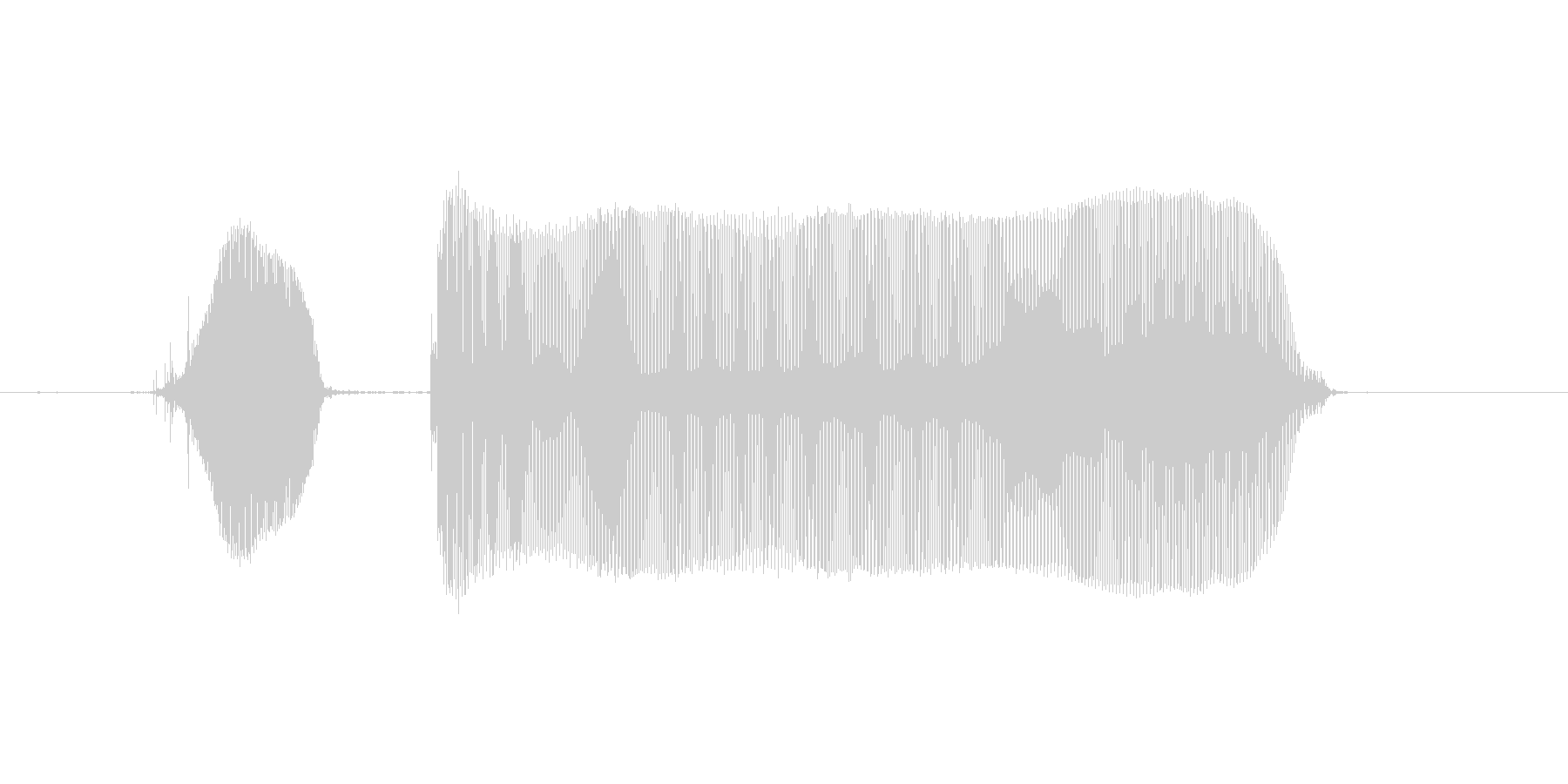 じと〜の未再生の波形
