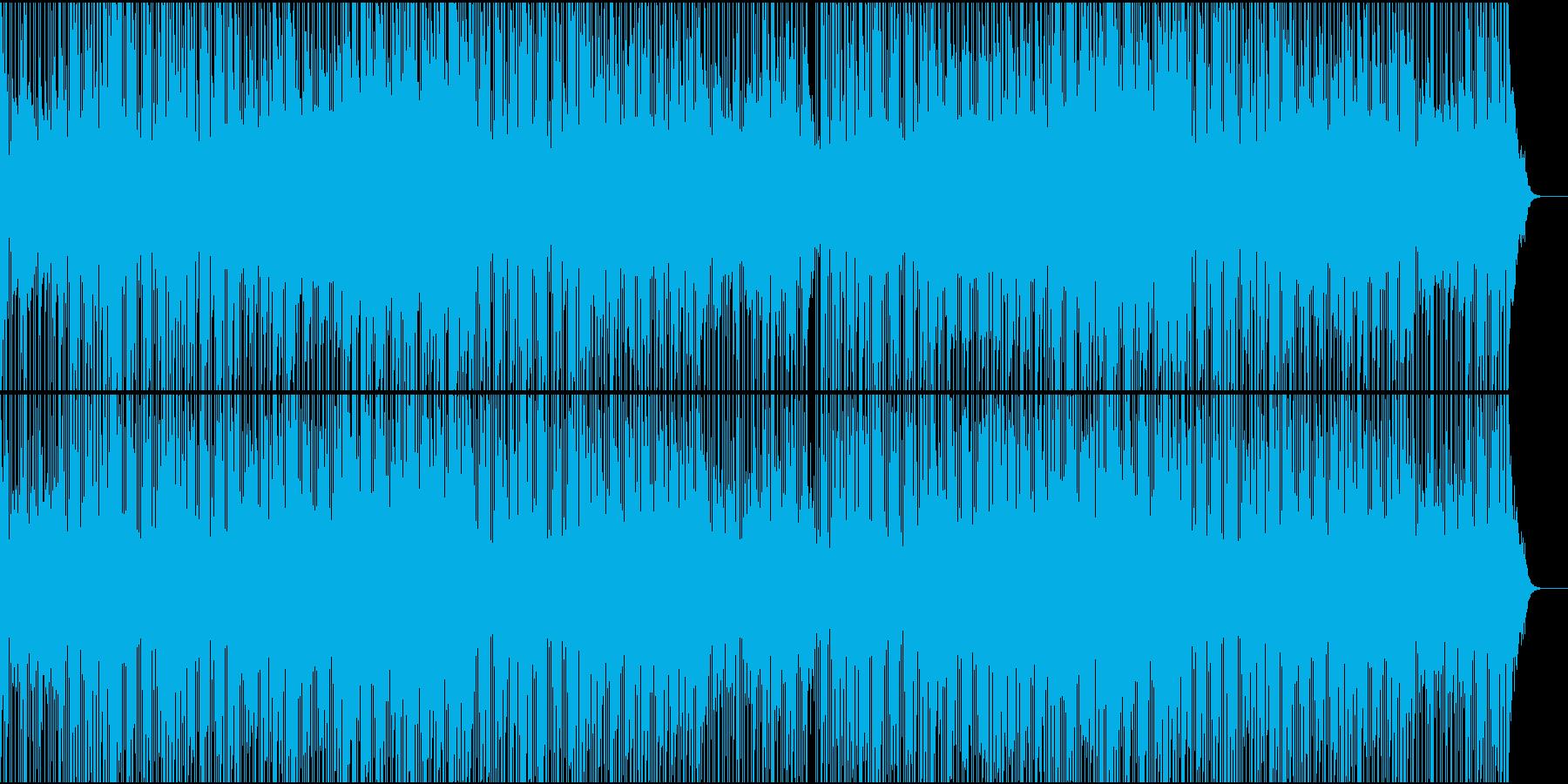 アシッドジャズ風の落ち着いたBGMの再生済みの波形