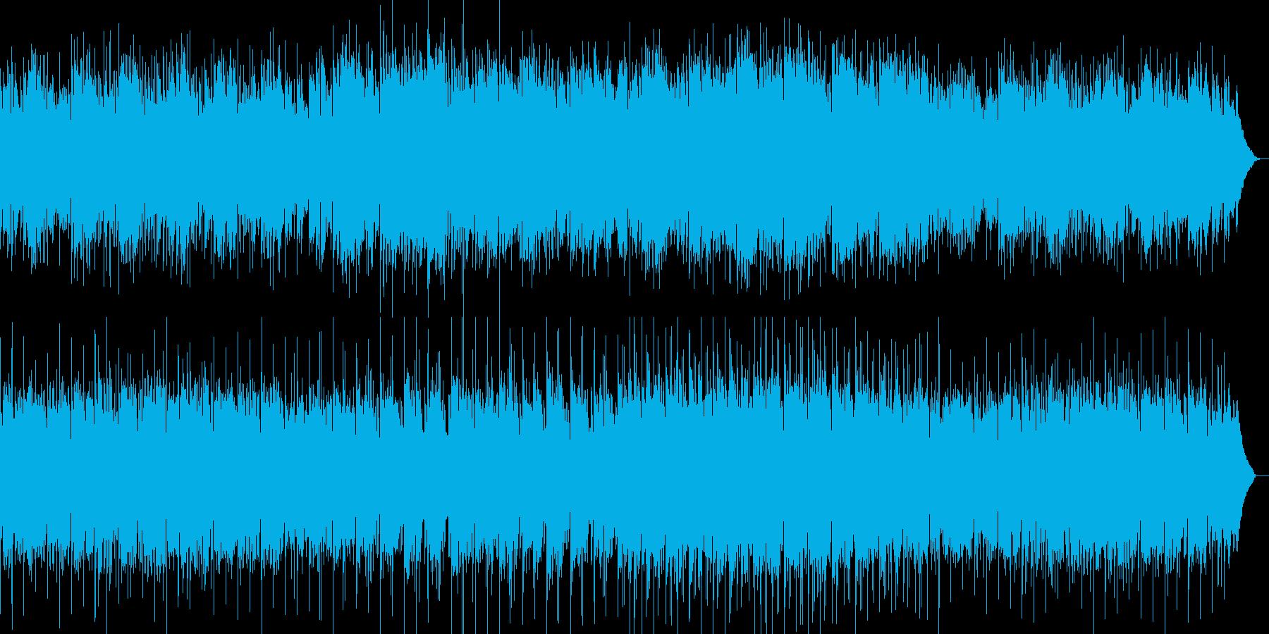 川の流れをイメージしたヒーリング音楽の再生済みの波形
