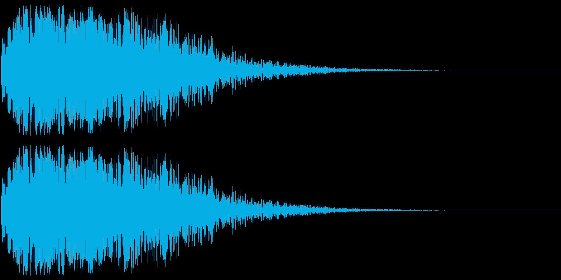 アニメのアクションシーンのイメージです…の再生済みの波形