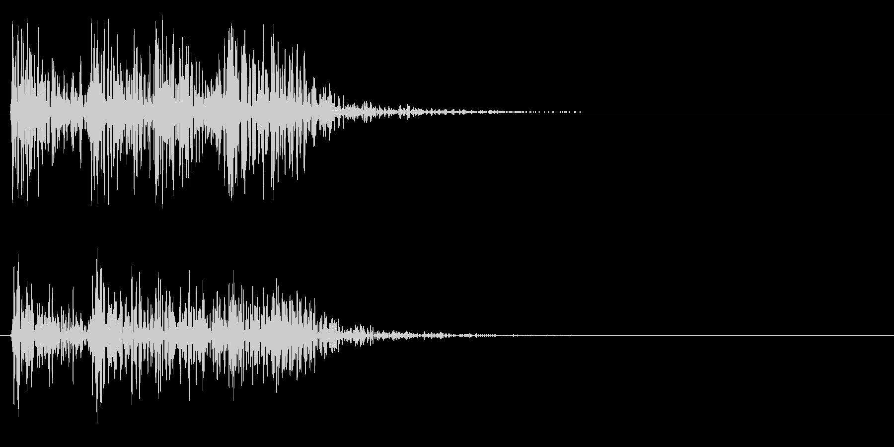 ドンドンドンドン(ドア、ノック、叩く)の未再生の波形
