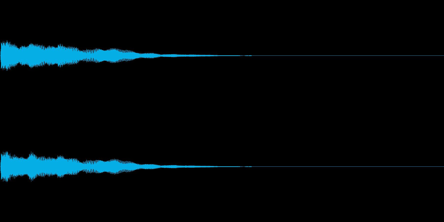 効果音 決定 ボタン の再生済みの波形