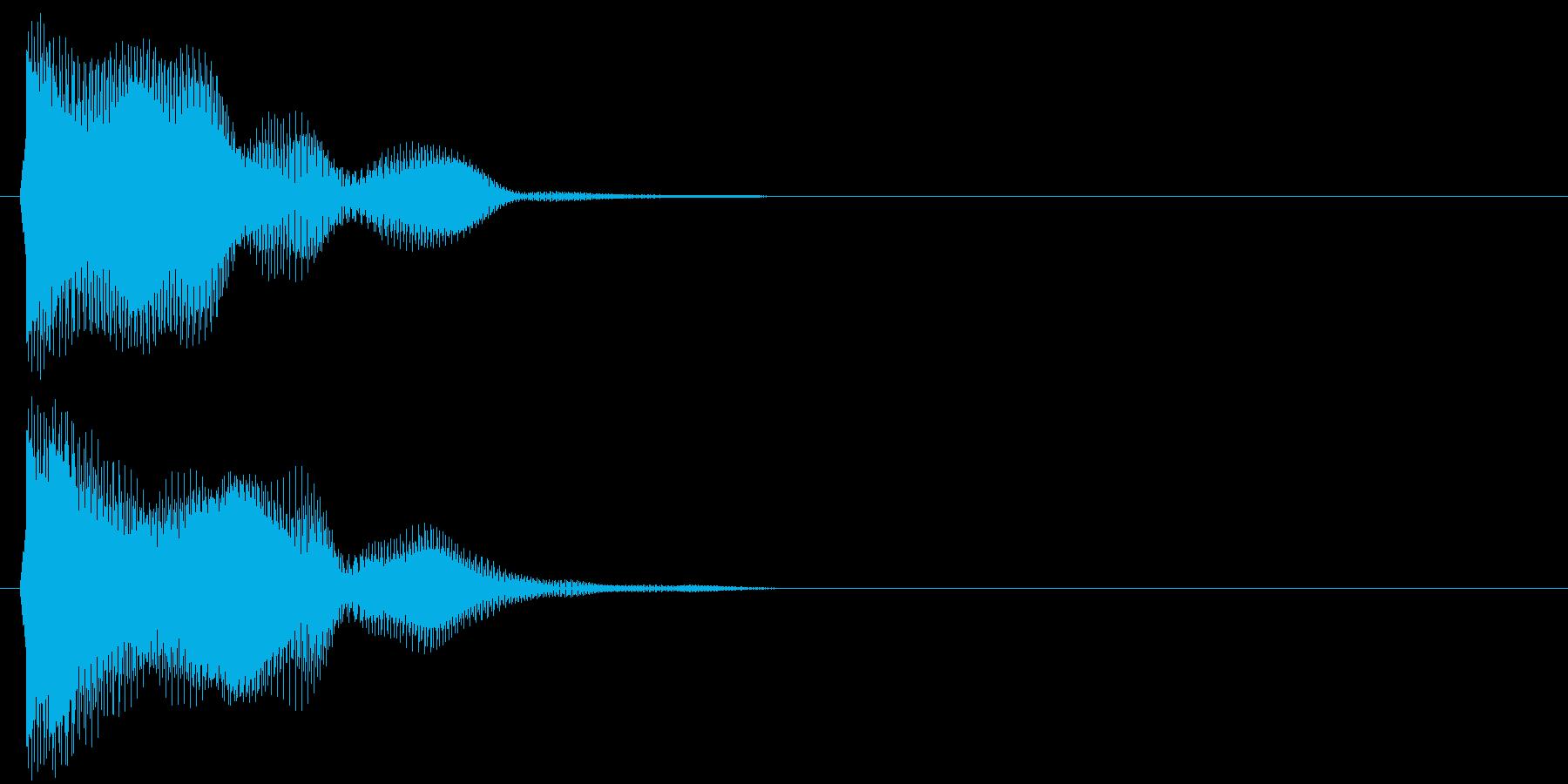 汎用 近未来系01(単) クリック音の再生済みの波形