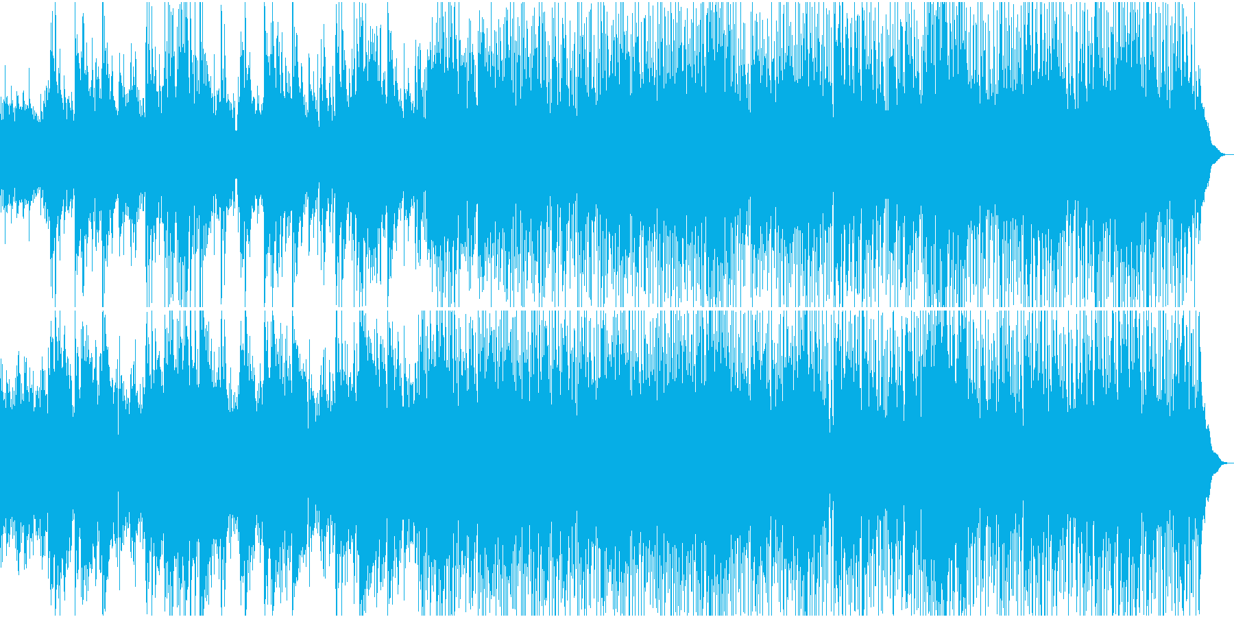アコースティックギターのしっとりチューンの再生済みの波形