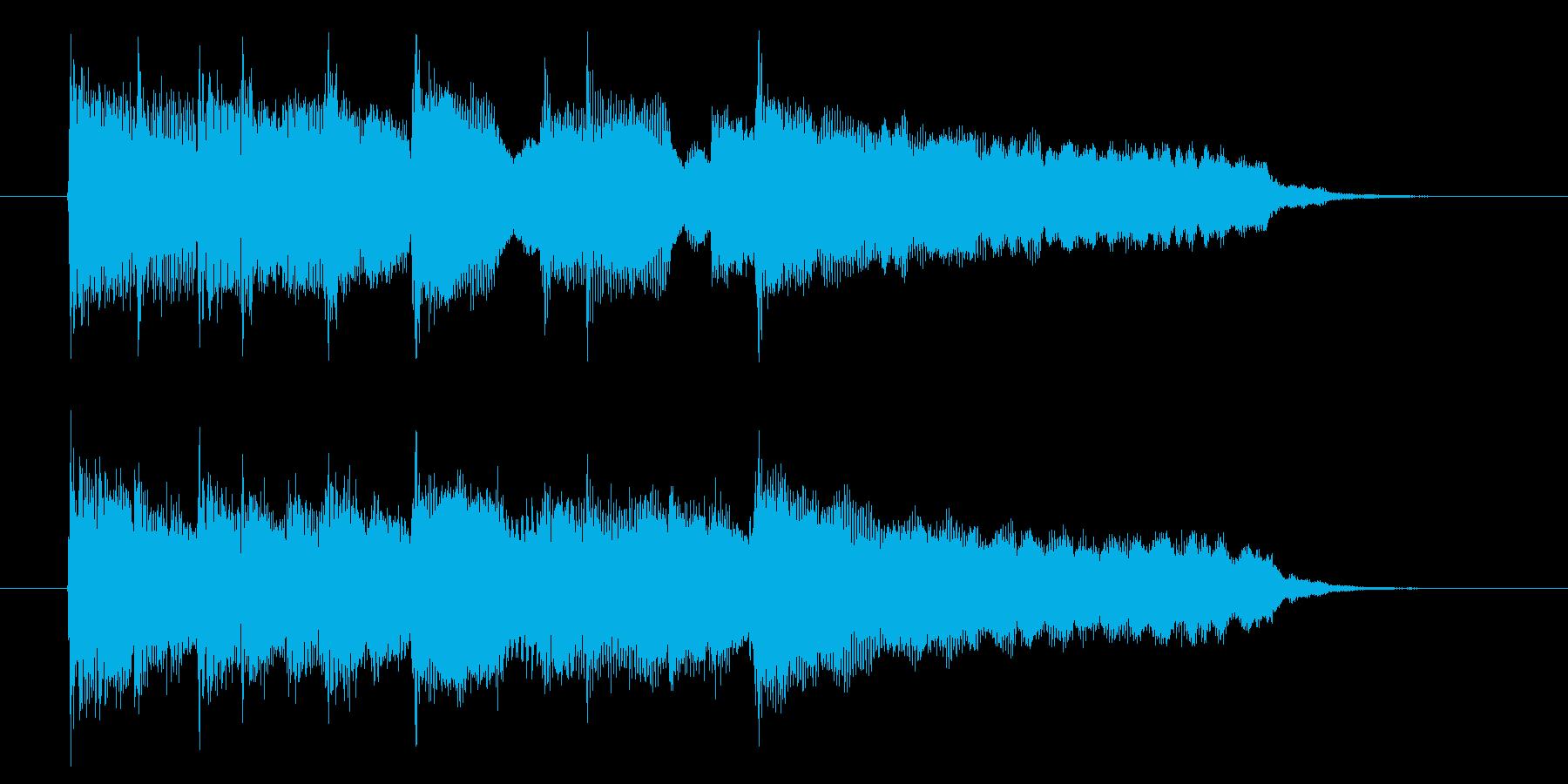 優しくゆったりシンセサウンド短めの再生済みの波形