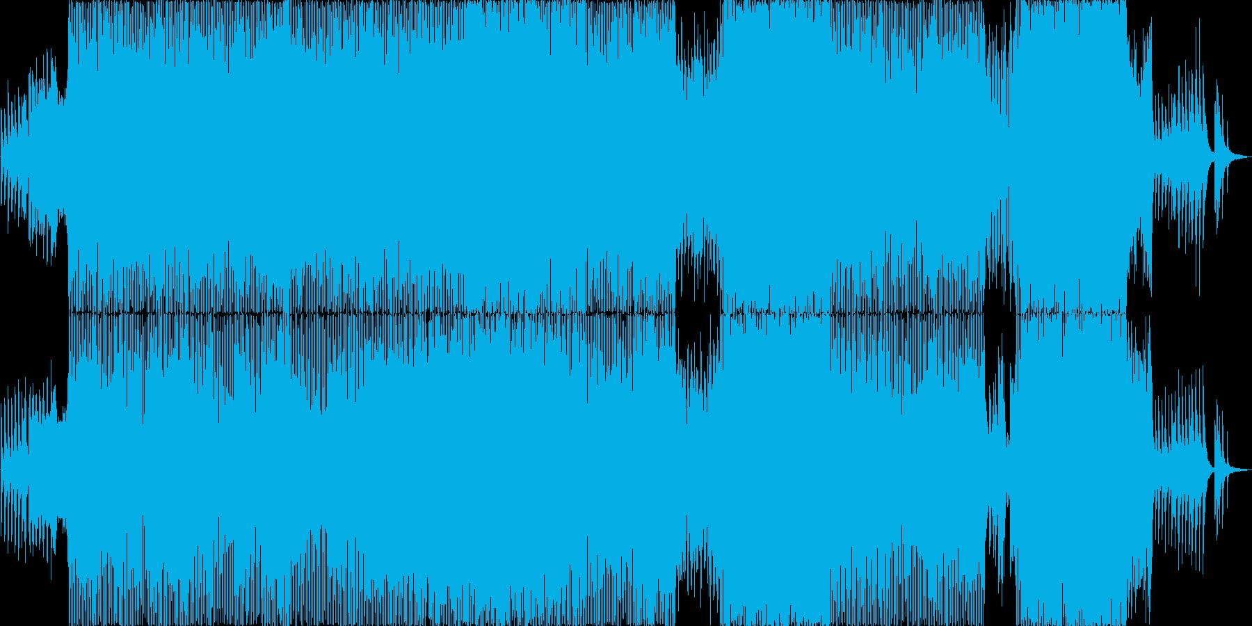 4つ打ち、ピアノ、ストリングスをメイン…の再生済みの波形