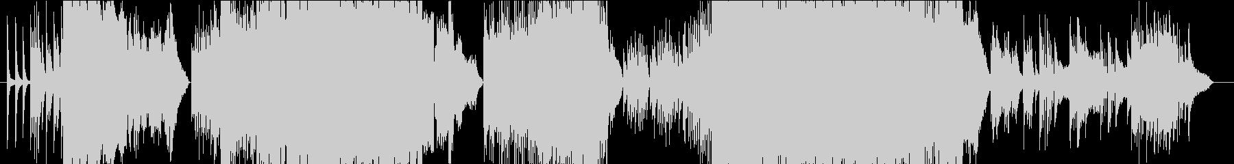 和を感じさせるピアノ中心のインスト曲の未再生の波形