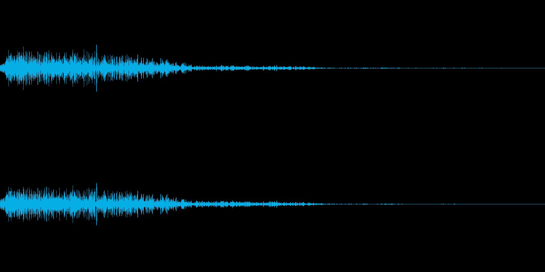 爆弾の爆発音の再生済みの波形