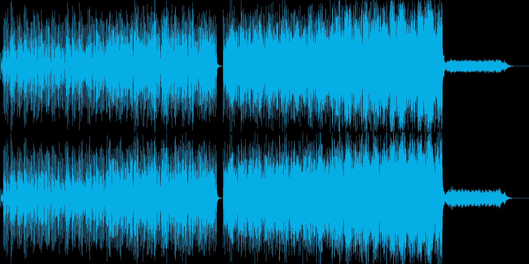 すこしクリスマスっぽいシンセポップの再生済みの波形