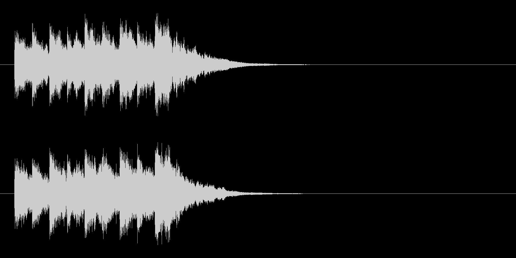 ジングル(ベルの音)の未再生の波形