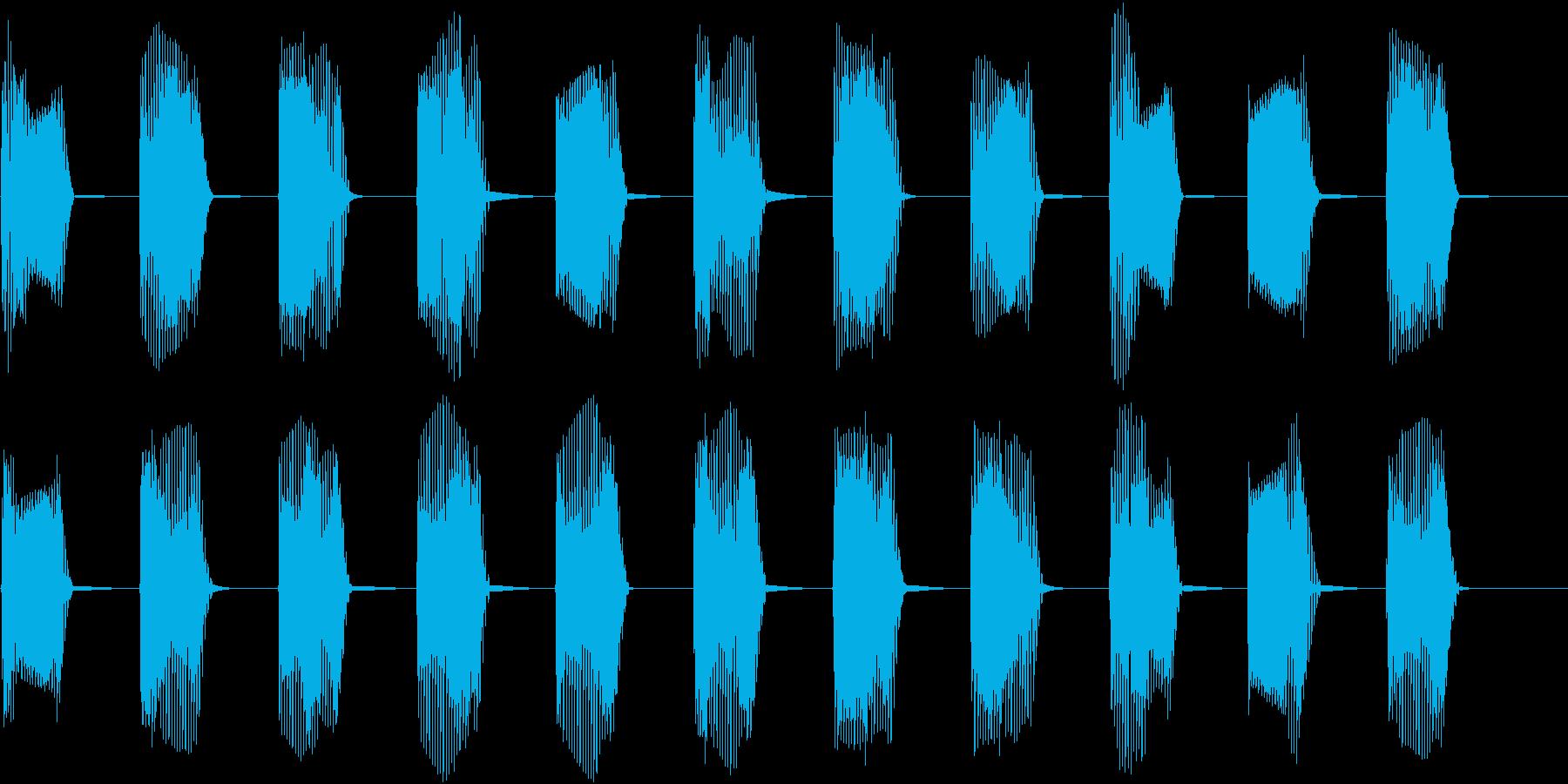 レトロなインベーダーゲームの音01の再生済みの波形