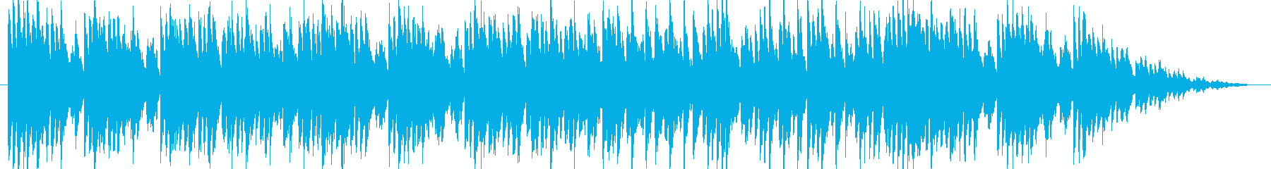かわいいコミカルなオーケストラジングルの再生済みの波形