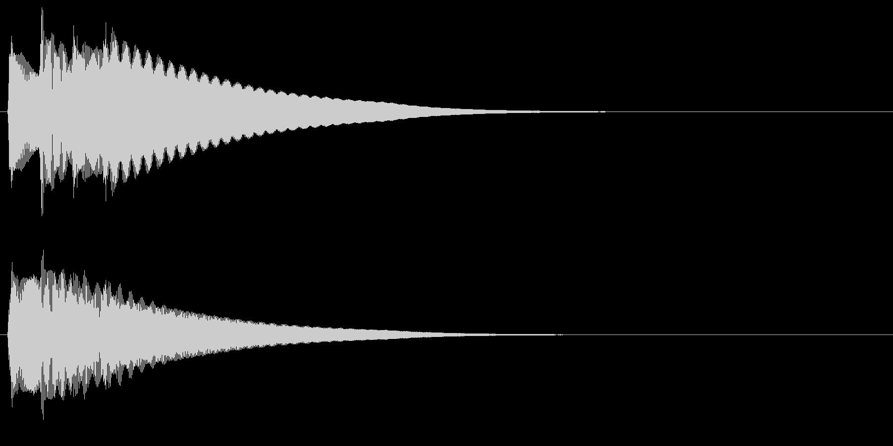 チェレスタのチャララランという上昇効果音の未再生の波形