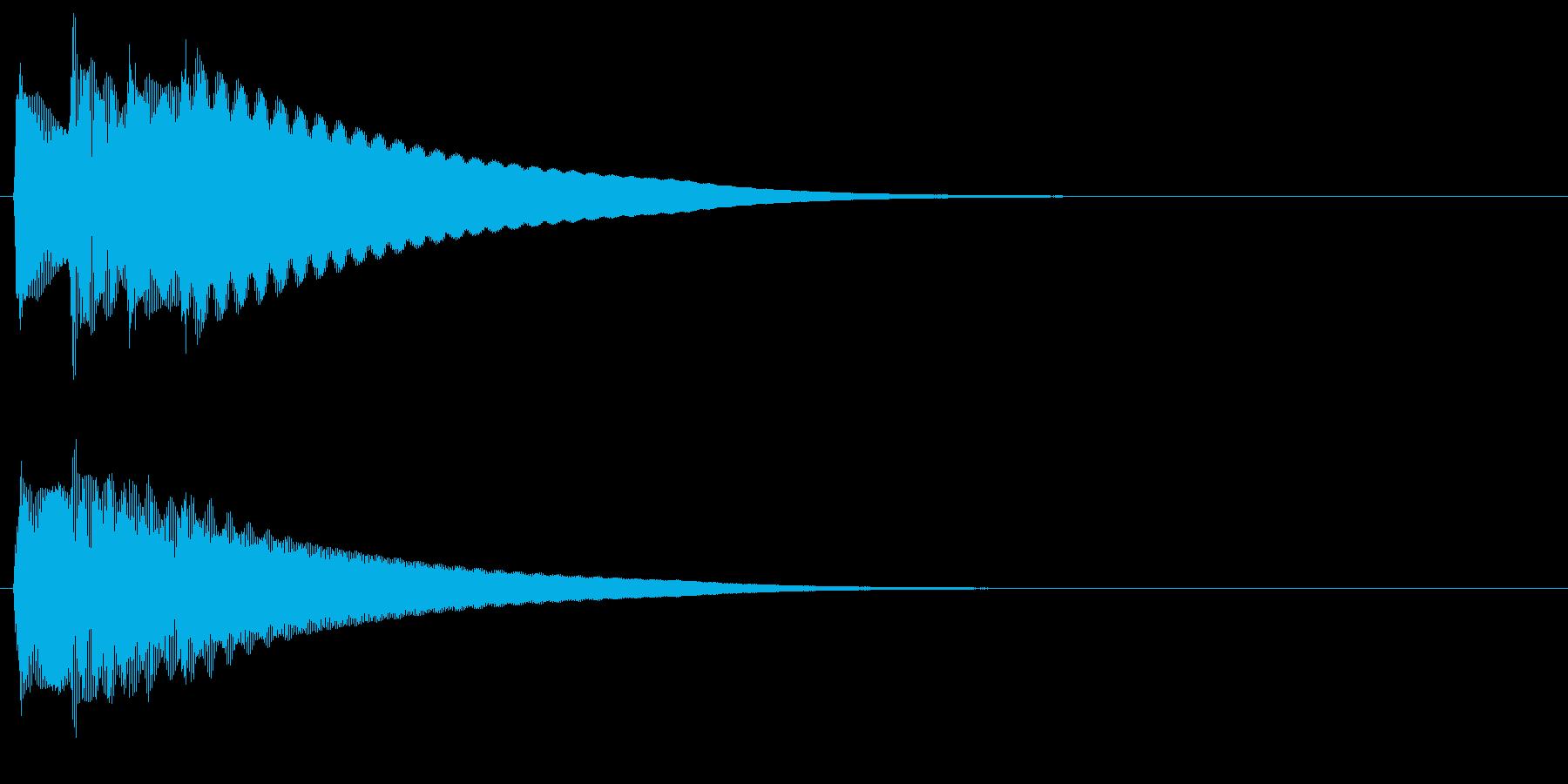 チェレスタのチャララランという上昇効果音の再生済みの波形