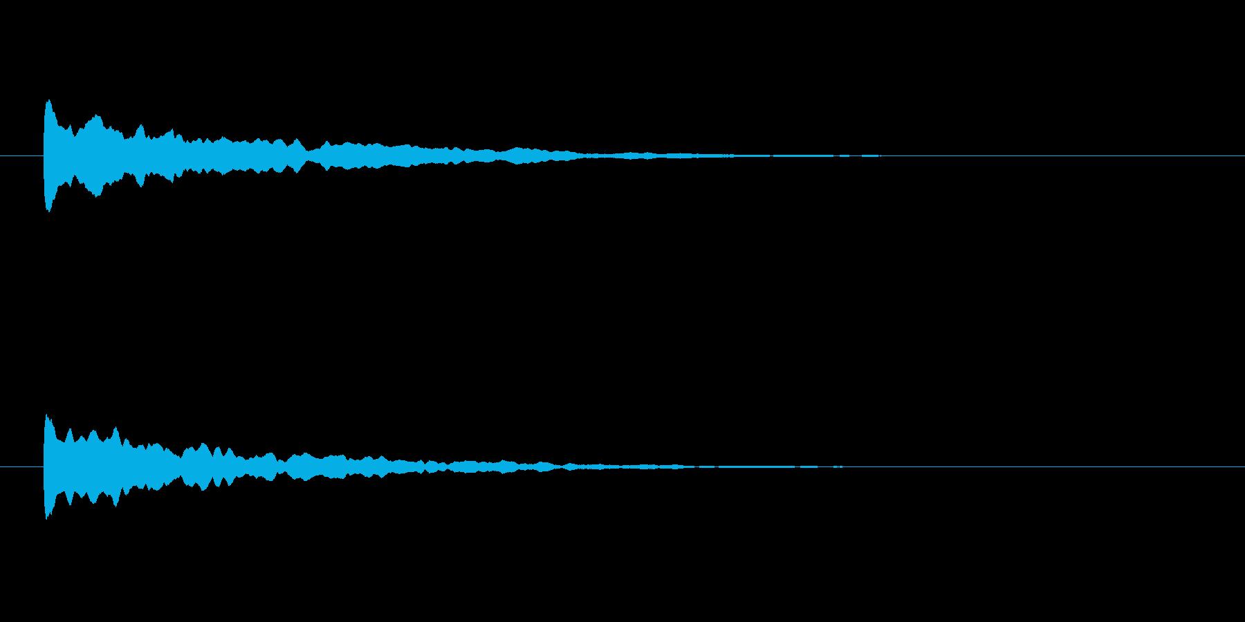 【アクセント29-1】の再生済みの波形