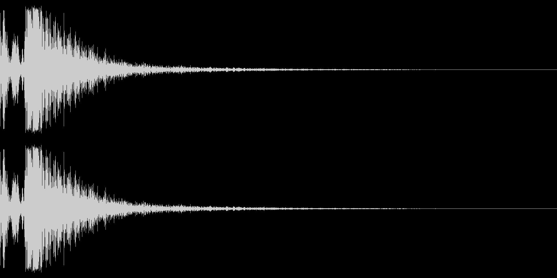 軽めのパコッという余韻短めの木の音ですの未再生の波形