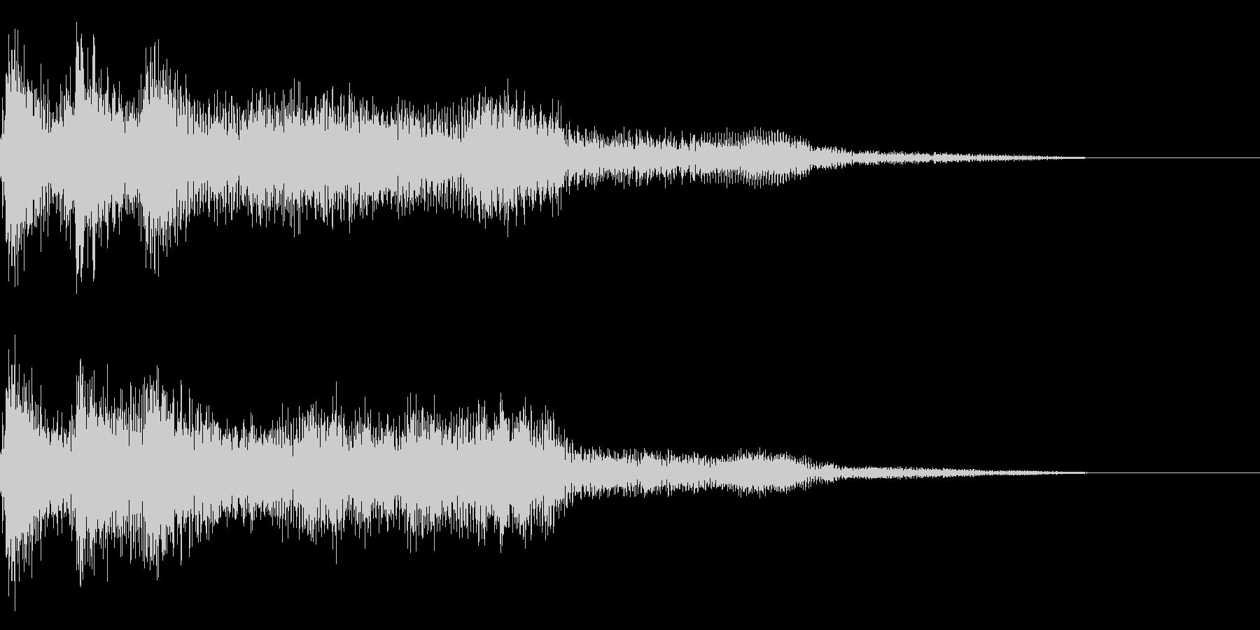 レトロな失敗した時の音 ゲームオーバーの未再生の波形