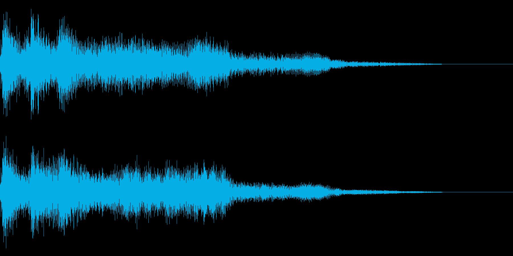 レトロな失敗した時の音 ゲームオーバーの再生済みの波形