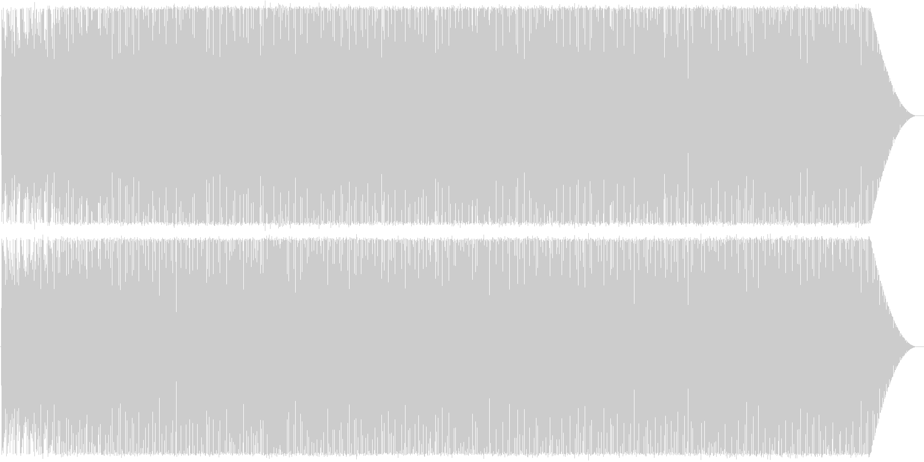 Deep House系インスト曲1の未再生の波形