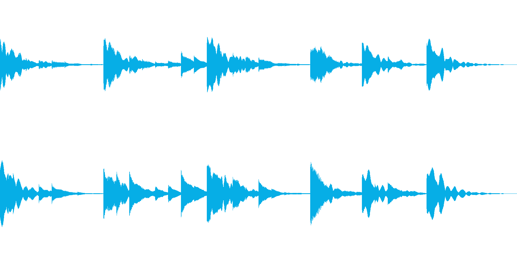 シンプルなピアノのジングルです。の再生済みの波形