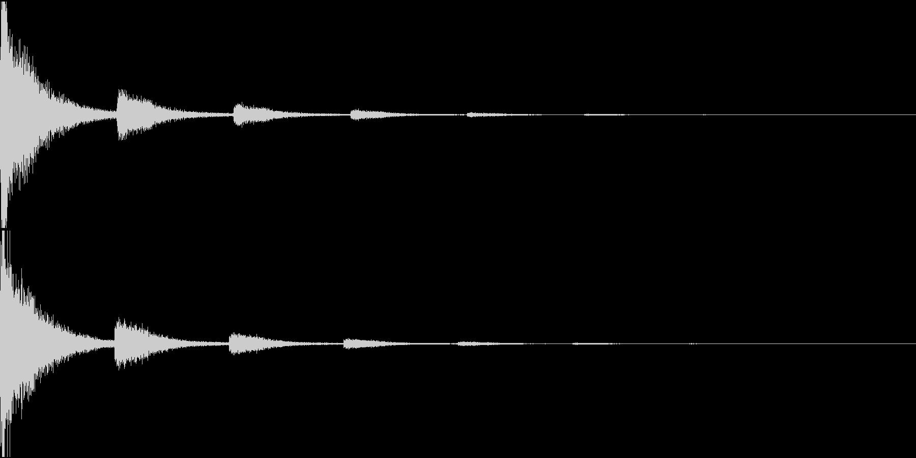 ばーん(撃墜された音)の未再生の波形