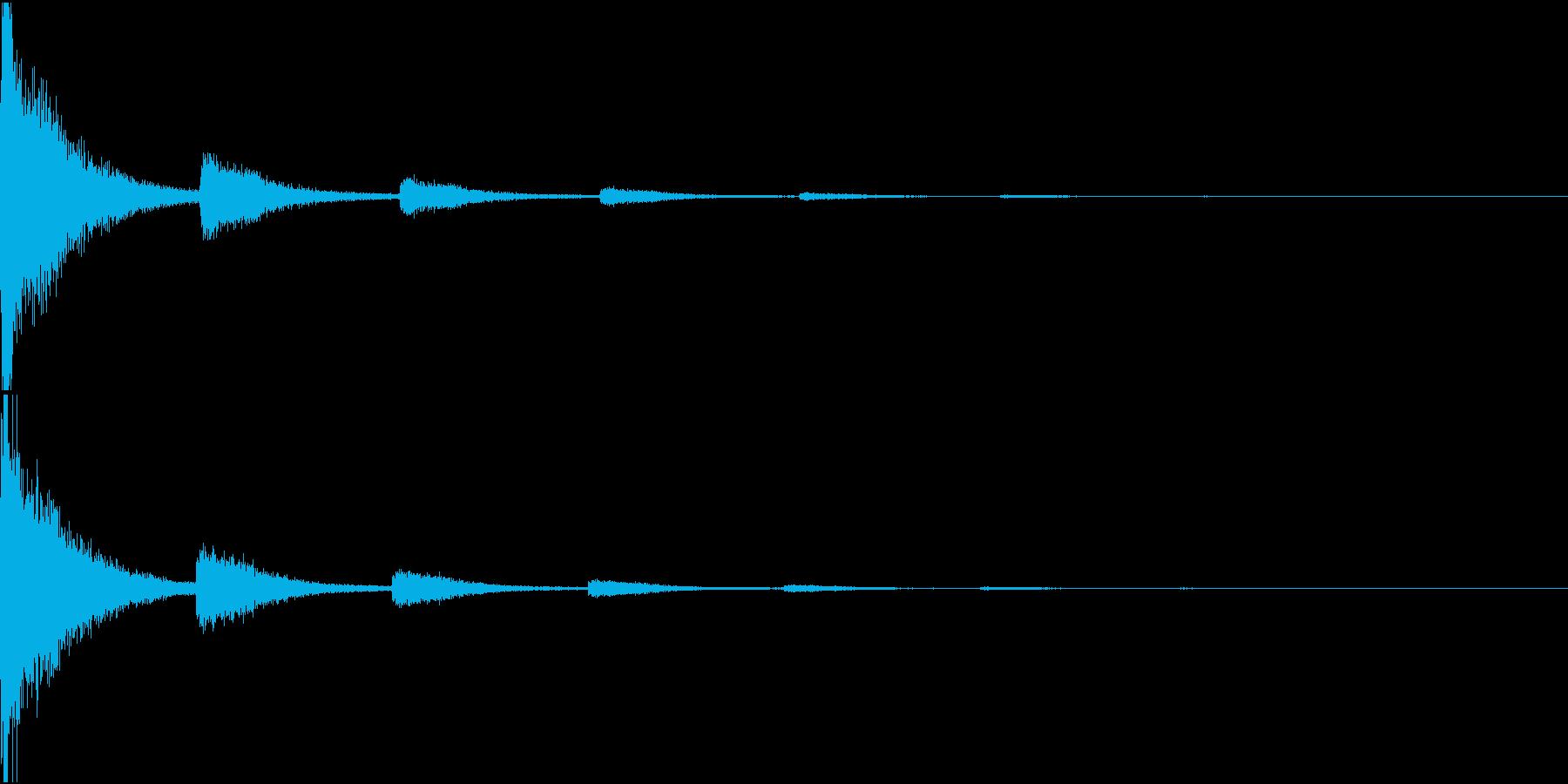 ばーん(撃墜された音)の再生済みの波形