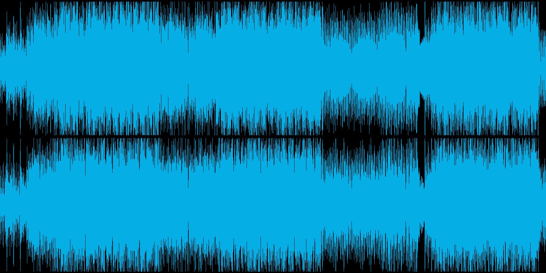 ループ ギターとシンセサイザのリフの再生済みの波形