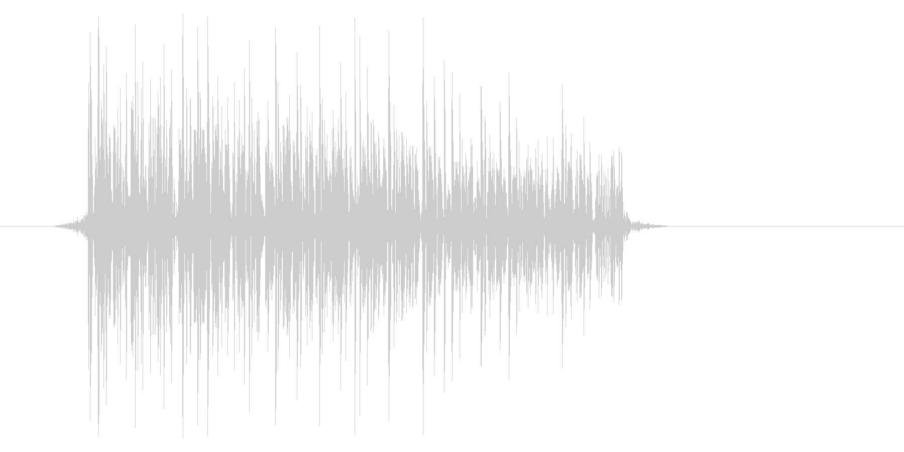 ゲーム(ファミコン風)爆発音_045の未再生の波形