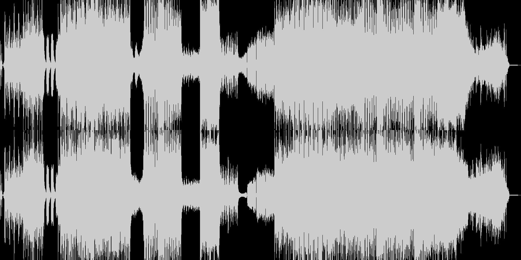 ラスボス感と攻撃的なクラシカルの未再生の波形
