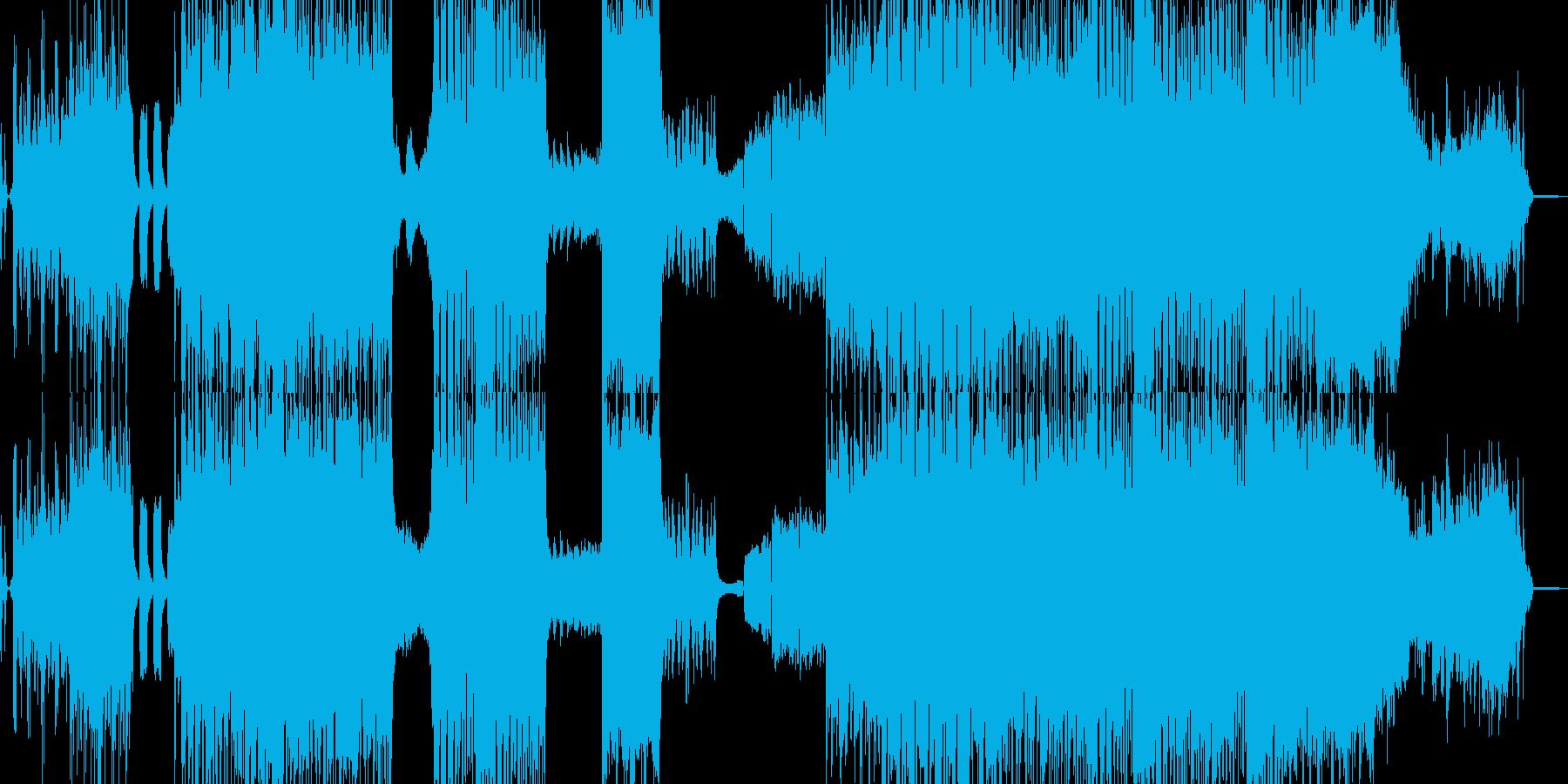 ラスボス感と攻撃的なクラシカルの再生済みの波形