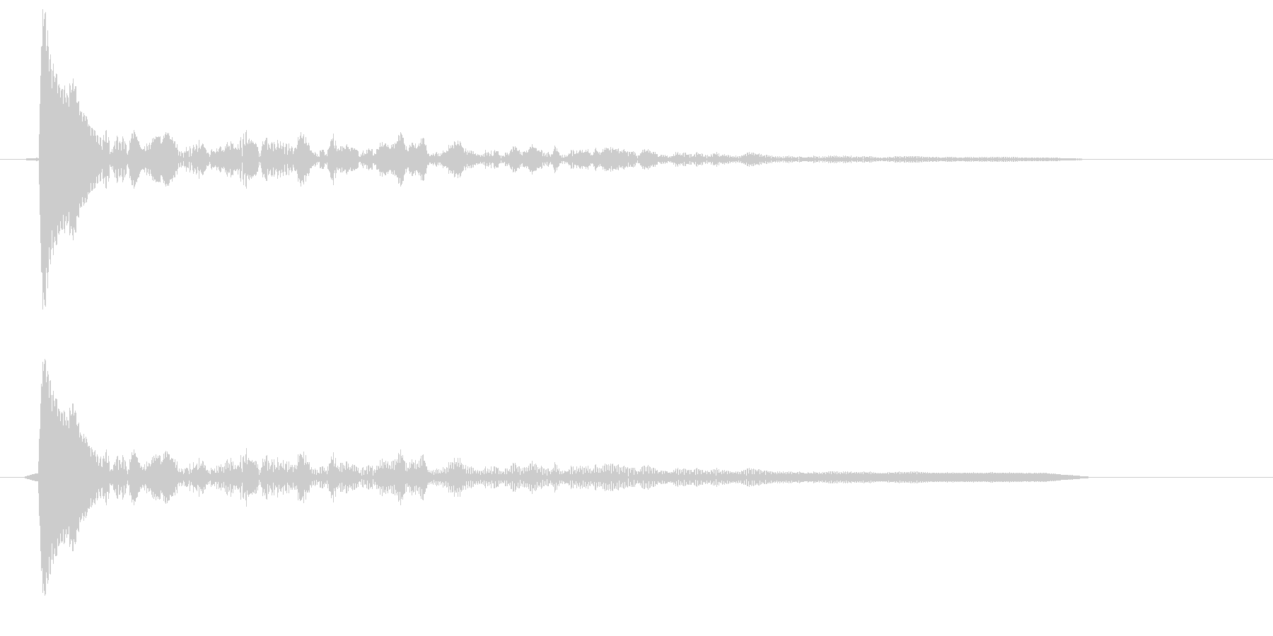 コン(固い木材の音色)の未再生の波形