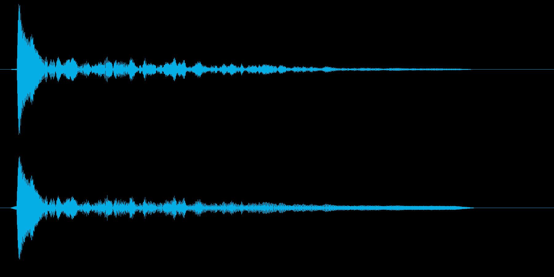 コン(固い木材の音色)の再生済みの波形
