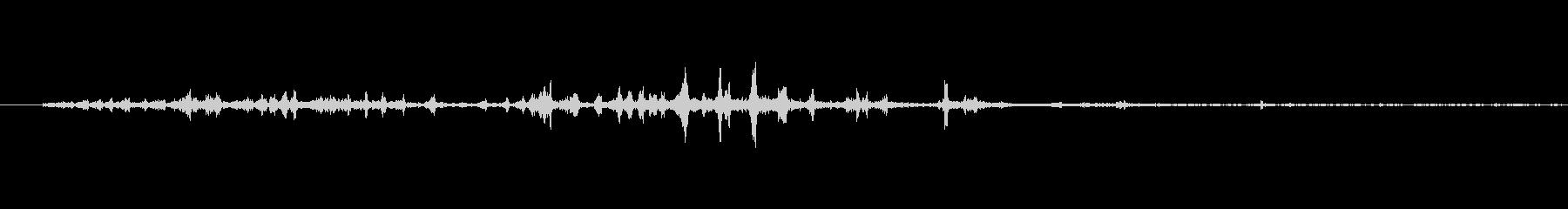 ページをめくる音(パラパラ)1の未再生の波形