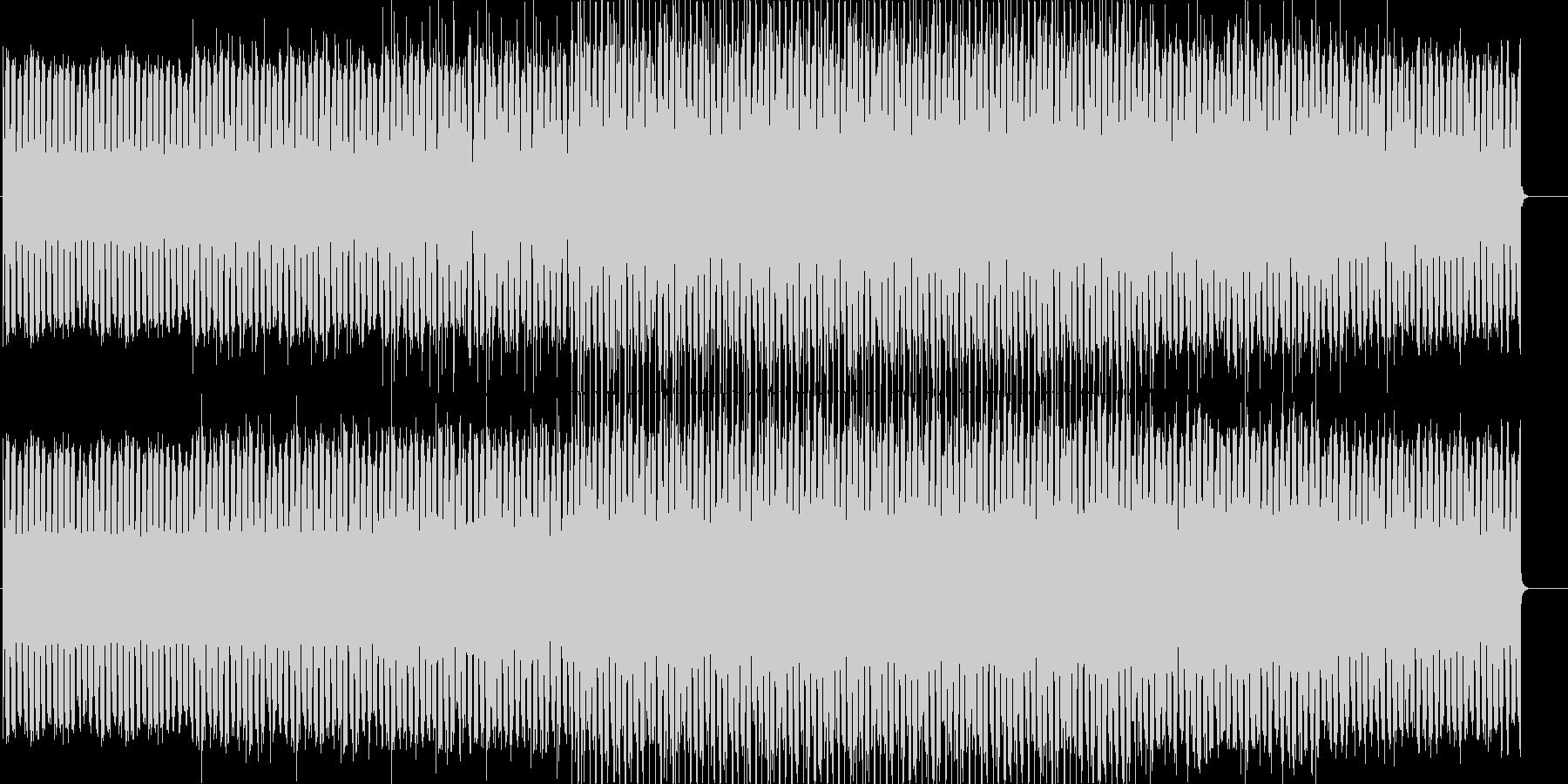 無機質で淡々としたエレクトロニカの未再生の波形