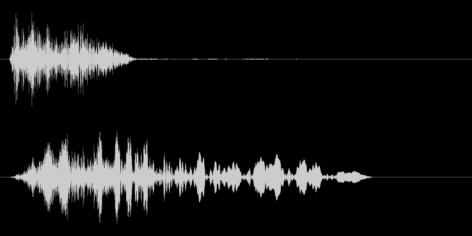 ヒュッ (スピード感のある空気音)の未再生の波形