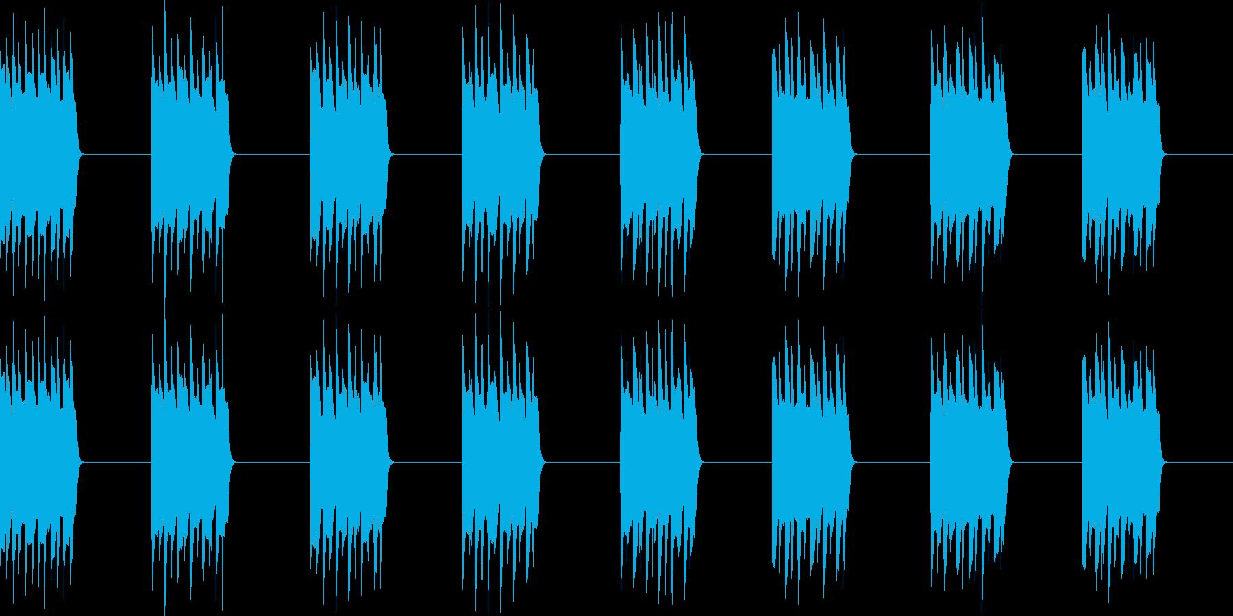 プルプル..。電話の着信音D(低・長)の再生済みの波形