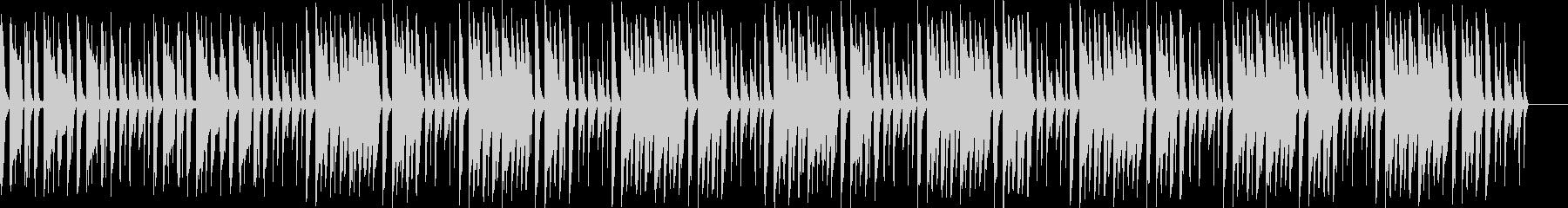 ほのぼのした雰囲気のメニュー画面BGMの未再生の波形