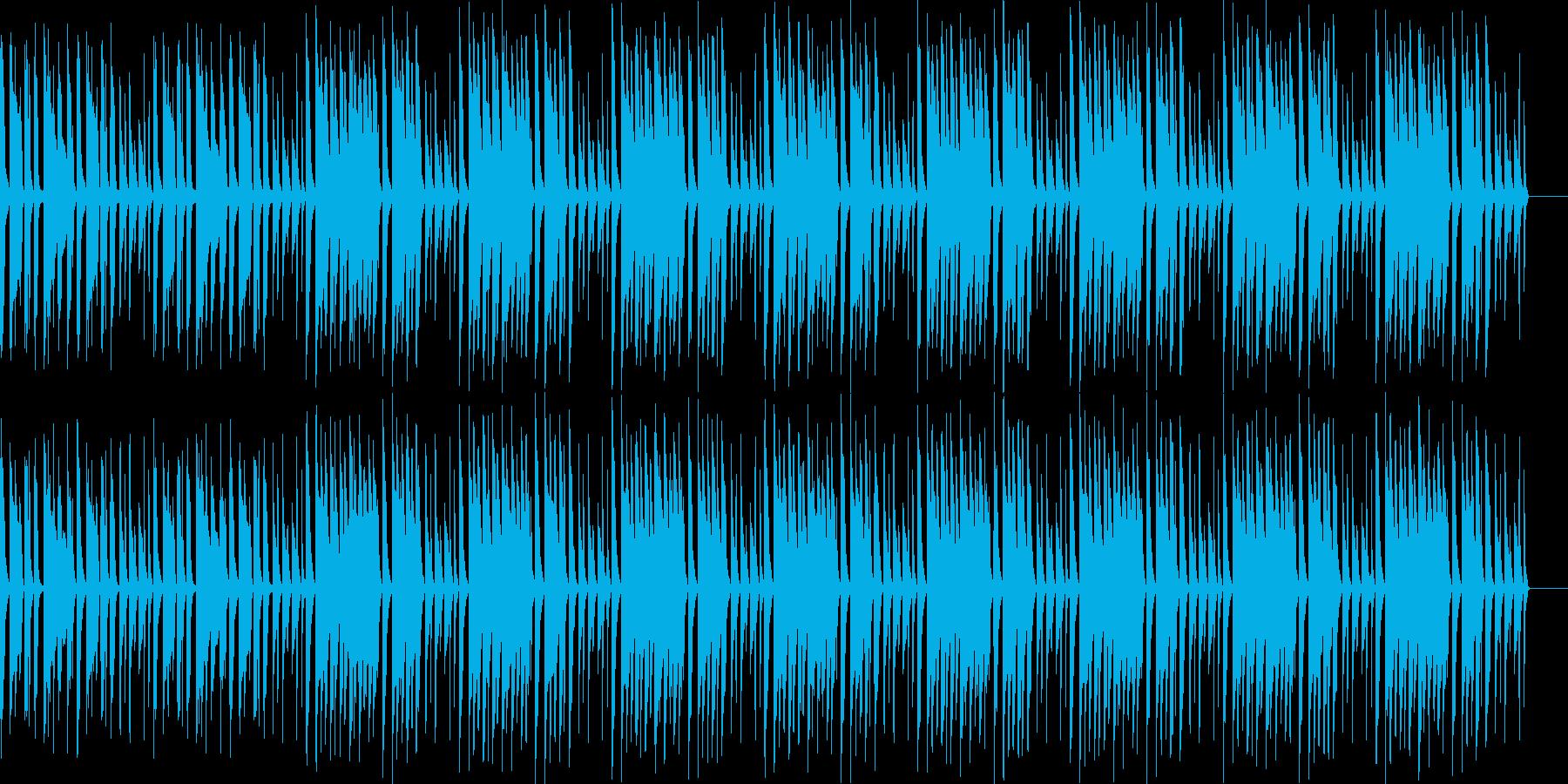 ほのぼのした雰囲気のメニュー画面BGMの再生済みの波形