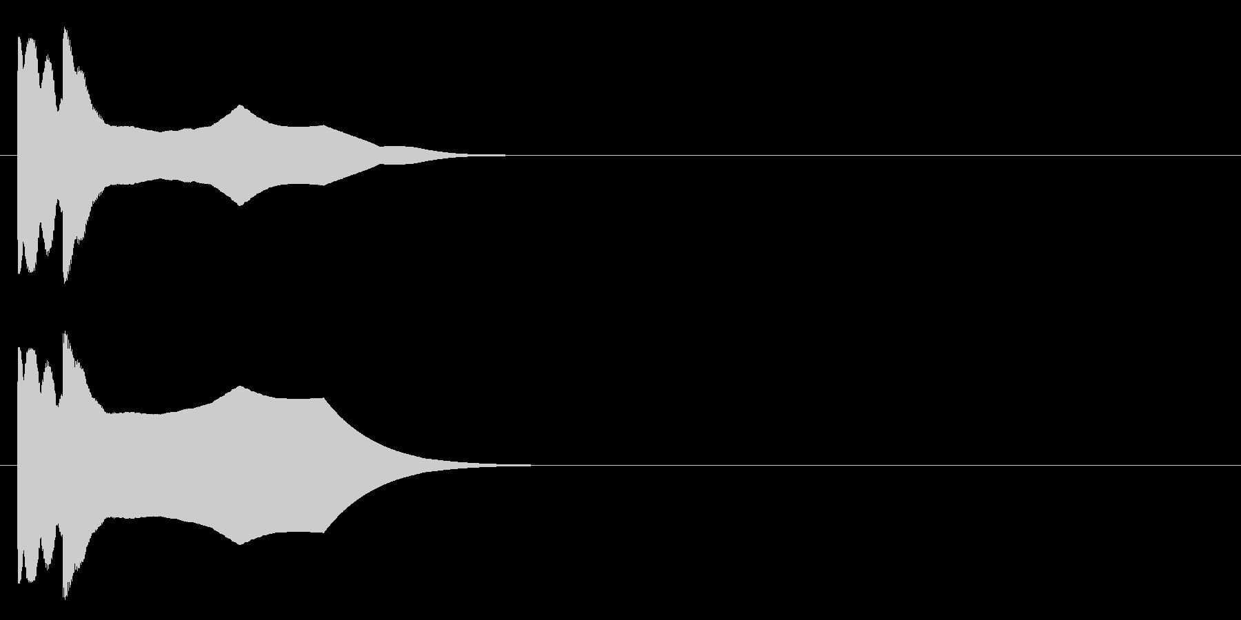 チュキンーの未再生の波形